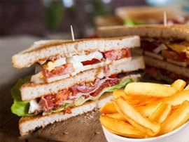 Serres Delivery Mamma`s Pizza Club sandwich Ζαμπόν